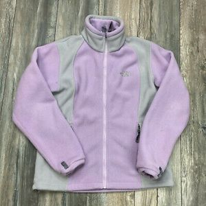 THE NORTH FACE Purple Grey Amazie Mays Zip Jacket